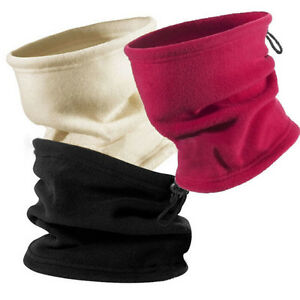 Unisexe-Fleece-echarpe-Snood-echarpe-cou-chaud-bonnet-cagoule-chapeau-ski