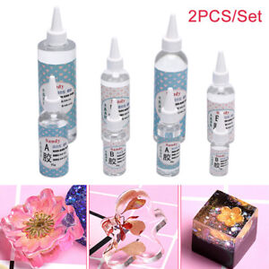 Details about 2PCS/Set AB Glue Crystal Clear Epoxy Resin For Jewelry Making  DIY Art CraftFBDS