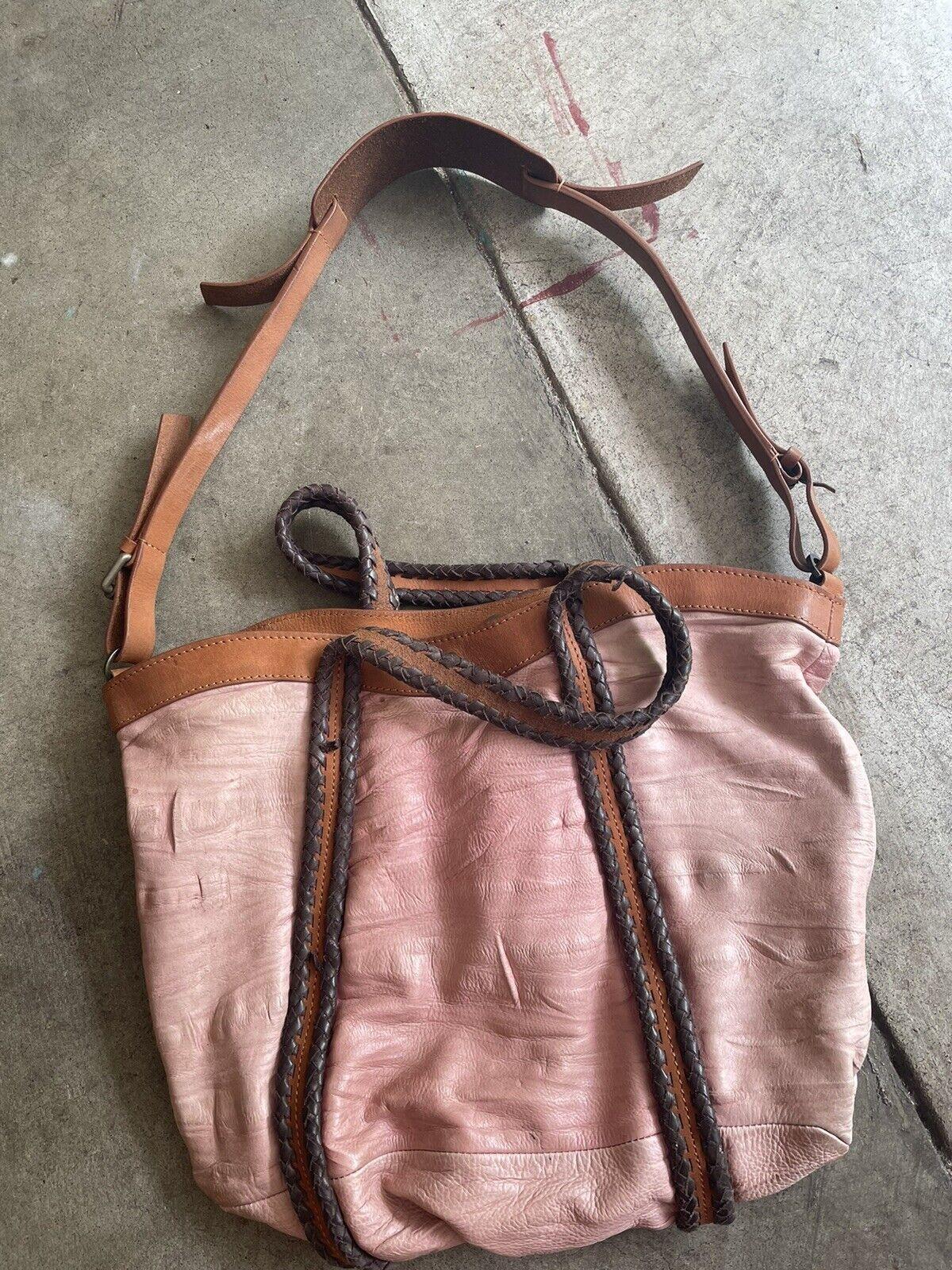 holding horses Leather Dusty Pink bag - image 3