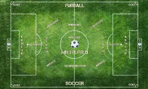 Details Zu Poster Xxl Pop Art Fussballer Fussball Wm Feld Tor Mit Text Kinderzimmer 150x90