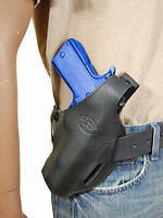 Barsony Black Leather Pancake Gun Holster Astra Beretta Full Size 9mm 40 45