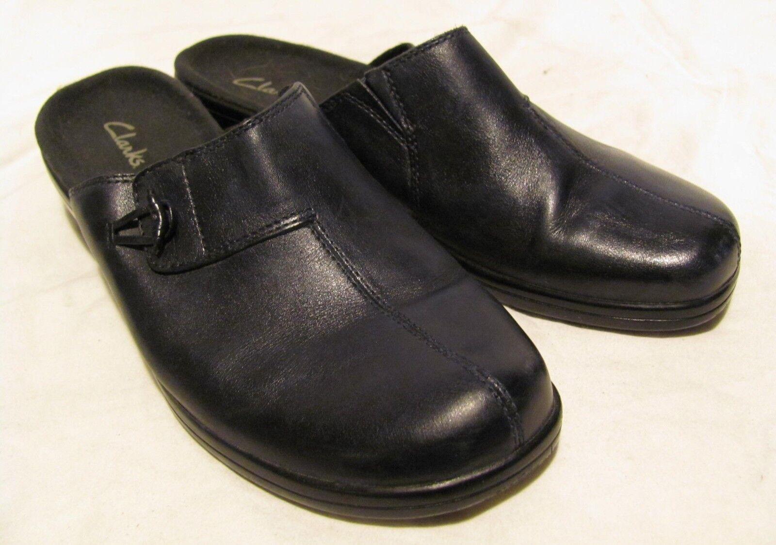 Clarks 8M 8M 8M black slip on shoes, excellent 91e6d0