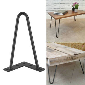 Solid-Hairpin-Legs-Black-Solid-Iron-Bar-Metal-Table-Chair-Legs-8-034-28-034-Set-of-4