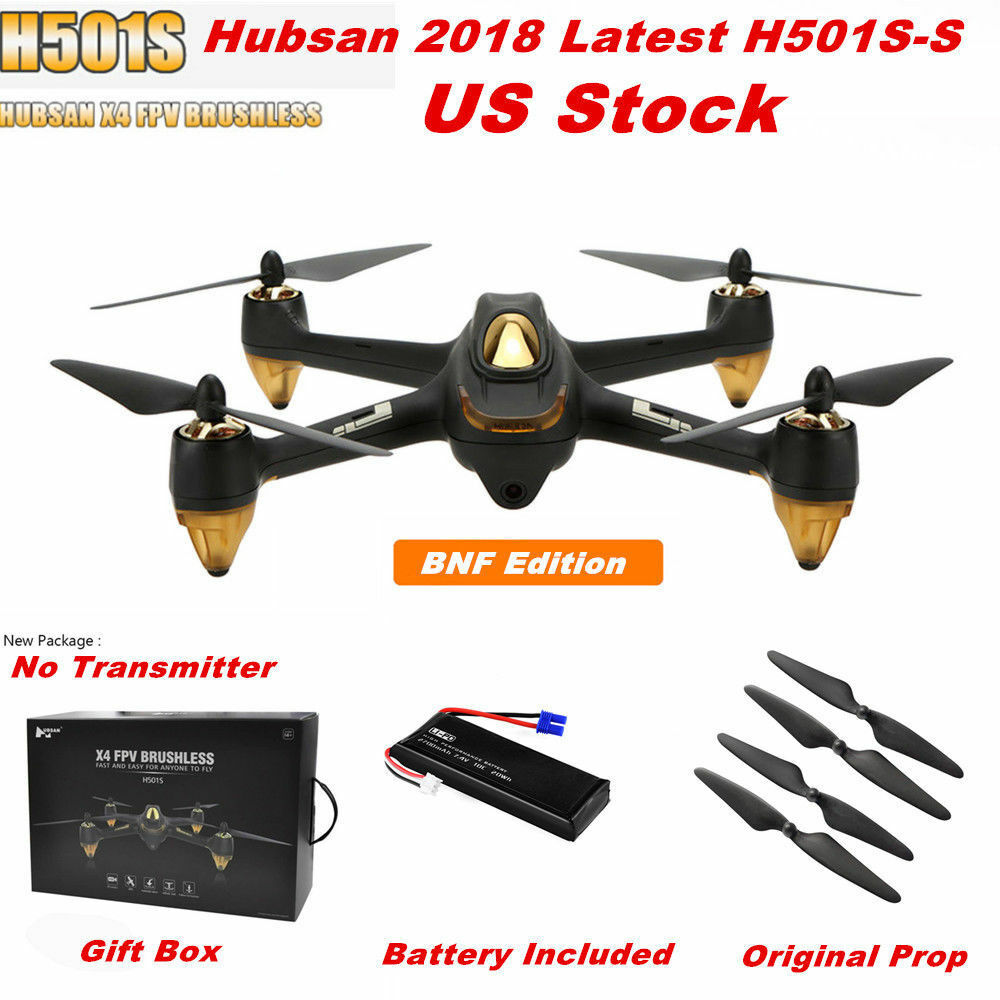 Hubsan H501S X4 FPV Brushless Drone RC Quadcopter W/ 1080P CAM Follow Me RTH BNF