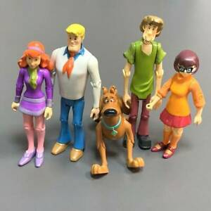 Rare-Lot-5-Scooby-Doo-Velma-Shaggy-Daphne-Dog-Fred-5-039-039-Action-Figures-toys