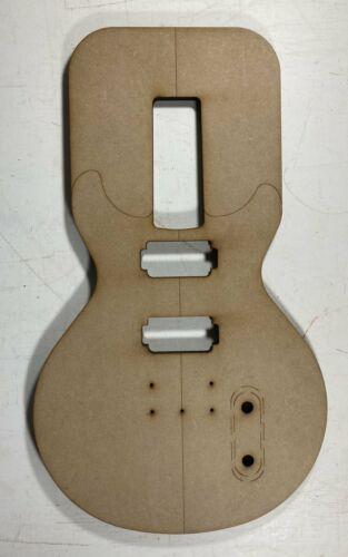 LP Double Cut Style Guitar Template HH Bolt On