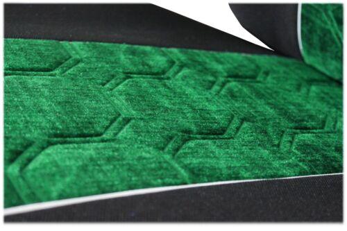MERCEDES ATEGO AXOR à partir de 2015 1 Ceinture Coupe Siège Auto Housses Noir Vert