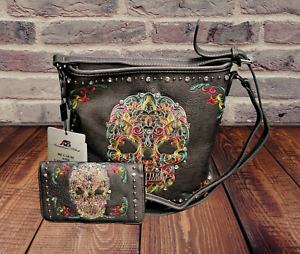 Montana-West-Concealed-Carry-Purse-Wallet-Country-Sugar-Skull-Crossbody-Bag