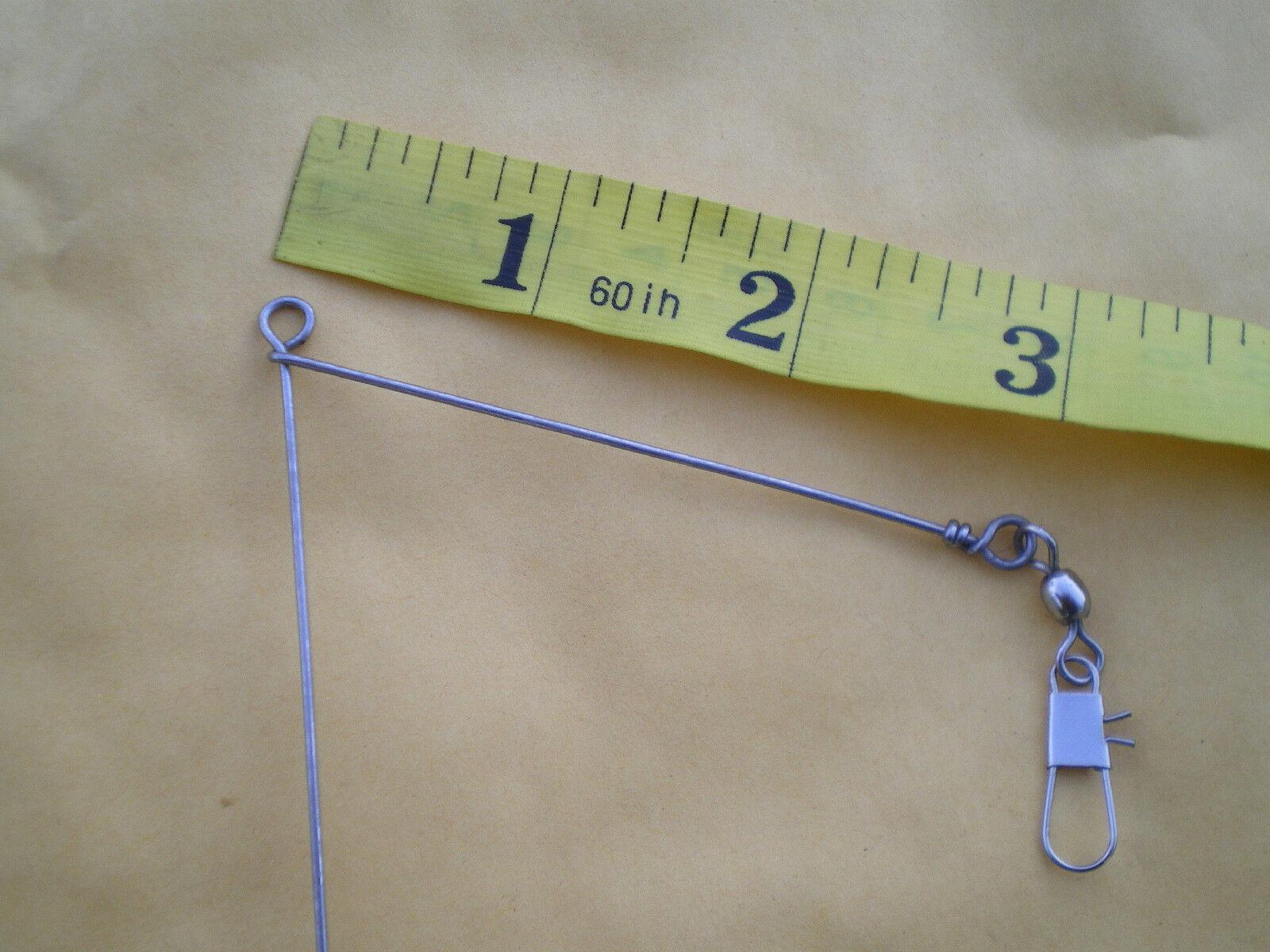 """10 SMALL BOTTOM BOUNCER SINKER 1//2 OZ WIRE .041X7/"""" LEG X3/"""" ARM W//STAINLESS S"""