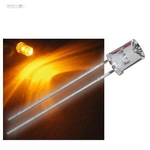 10-x-LEDs-5mm-konkav-gelb-wasserklar-superhell-Leuchtdioden-gelbe-concave-LED