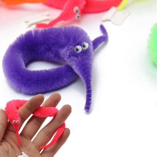 Magic Trick Twisty Wriggley Wiggly Worm Furry Teaser Fun Party Toy Xmas Gif GNCA