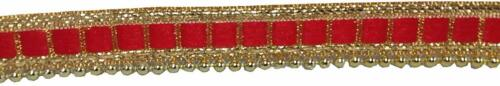 Gota Patti Embroidery Red Golden Pearl Lace Trim Border Saree,Suit,Dresses craft