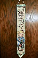 """Mary Engelbreit Tapestry Wall Hanging Bell Pull """"Friends are the Flowers..."""""""