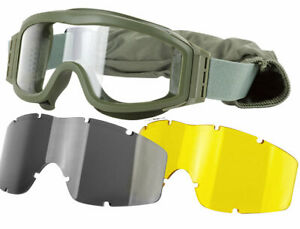 Valken-TANGO-Goggles-OLIVE-Frame-w-3-Thermal-Lenses-Full-Seal-Eye-Protection
