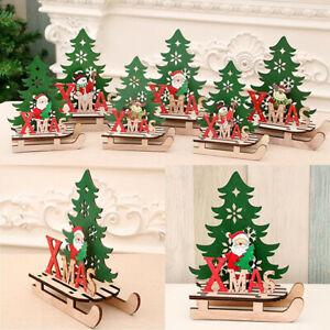EIk-Sled-Snowman-Wooden-Ornaments-Merry-Christmas-Home-Decor-Xams-Tree-Supplies