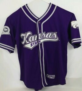 KSU-Kansas-State-Wildcats-Men-BASEBALL-STYLE-Jersey-Size-XL