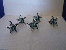 Genuine SWAROVSKI Crystal Ltd Edition BLUE STARFISH Event Pin / Brooch X 5