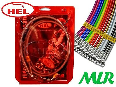 HEL STAINLESS STEEL BRAIDED BRAKE LINES HOSES HONDA CIVIC EK9 EK4 VTI RED Y2533