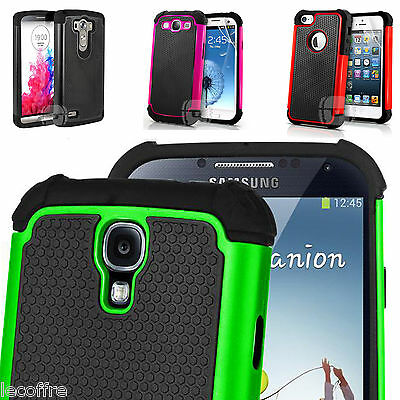 Armor Shock Proof Hybrid Cover Case for iPhone ipod Samsung Galaxy LG Motorola