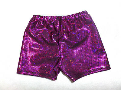 Hotpants Turnhose zum Turnanzug NEU Gr 122 b.164 rosarotmetallic Shorty
