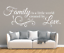 X4583-Wandtattoo-Spruch-Family-is-a-little-world-by-Love-Sticker-Wandaufkleber Indexbild 2