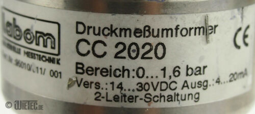 labom CC2020 Druckmeßumformer CC 2020 Bereich 0...1,6bar