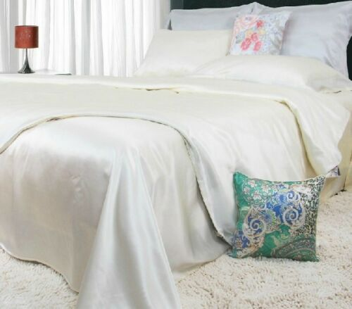 100/% Seide Bettwäsche Kissenbezugx1+Bettbezugx1 2-tlg 8 Farbe 25Momme BW0006