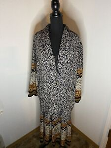 Vintage-Kensington-Square-Jacket-amp-Skirt-Size-L-Button-amp-Elastic-Waist-Made-In-USA