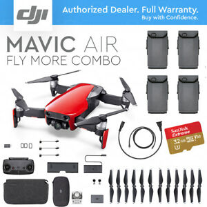 DJI-MAVIC-AIR-FLAME-RED-FLY-MORE-COMBO-PLUS-EXTRA-BATTERY-FREE-MEMORY-CARD