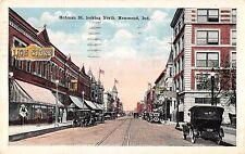 Hammond Indiana Hohman Street Looking North Antique Postcard V19938