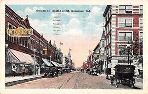 Hammond-Indiana-Hohman-Street-Looking-North-Antique-Postcard-V19938