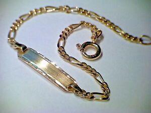 Herrlich Armband Schildband Identitätsarmband Gold 333, 12-14 Cm Taufgeschenk Exquisite Traditionelle Stickkunst