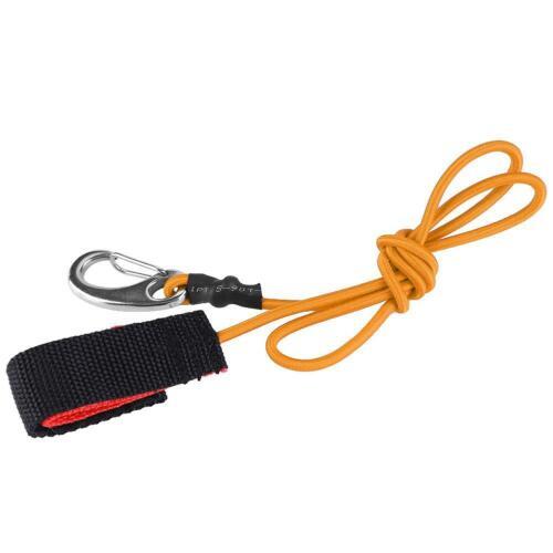 Elastic Paddle Leash String Boat Kayak Safety Rod Tool W// Carabiner for Paddling