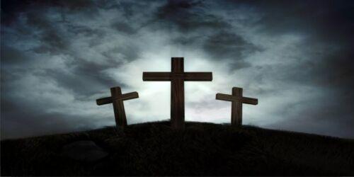 Three Crosses #3 Photo License Plate