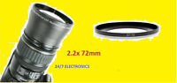 2.2x Telephoto Lens 72mm+step 67mm/72mm For Camera Camcorder Video