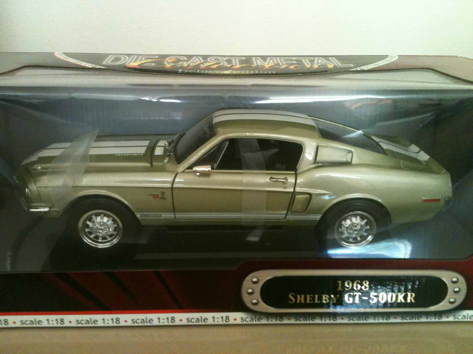 YAT MING 1968 SHELBY GT-500 KR DELUXE EDITION DIE CAST 1 18 HAND MADE
