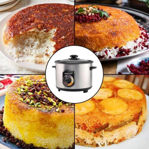 NEW 1.8L 10-Cups Persian Tahdig Rice Cooker Spatula /& Cup-60min Timer