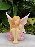 Miniature Figurine Fairy Garden Pastel Flower Fairy Girl Dahlia Figurine