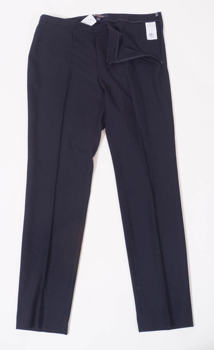 Brooks Bredhers Women Navy Wool Natalie Fit Straight Slim Dress Pants 8 x 30  25
