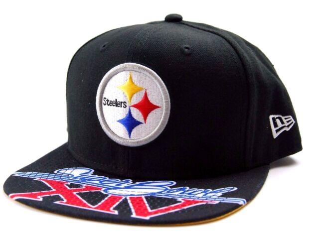 fc088ccff14 Pittsburgh Steelers New Era 9Fifty NFL Football Super Bowl XIV Snapback Cap  Hat