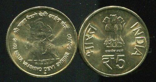 "INDIA 5 RUPEES /""25 Years Mata Vaishno Devi/"" 2012 COIN UNC"