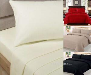 100/% Egyptian Cotton 500 Thread Count Bedding Fitted Flat Sheet Duvet Quilt Set