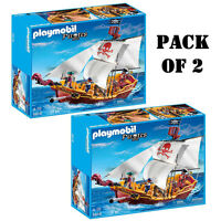 Pack Of (2) Playmobil 5618 Red Serpent Pirate Ship Ages 4-10 on Sale