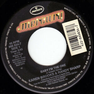 """KAREN BROOKS & RANDY SHARP - Baby I'm The One 7"""" 45"""