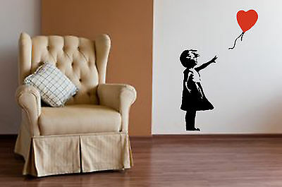 Banksy Style Girl With Balloon Wall Art Sticker Iconic Decal Vinyl Mural WA043