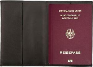 Leder-Reisepasshuelle-Reisepassetui-als-Schutzhuelle-fuer-Reisepaesse-und-Ausweise