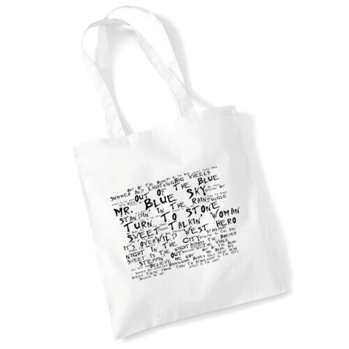 Art Studio Tote Bag ELO Lyrics Print Album Music Poster Gym Beach Shopper Gift