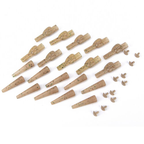 10PCSSafety Lead Clips Set Clips Swivel Snap Carp Fishing Tail Rubber Tube d~ BX