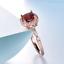 1-6ct-Cushion-Cut-Red-Garnet-Engagement-Ring-Diamond-Halo-14k-Rose-Gold-Finish thumbnail 3