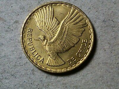 CHILE 2 CENTISIMOS 1970 EAGLE UNCIRCULATED